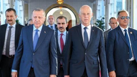 الرئيسان التونسي قيس سعيد والتركي رجب طيب أردوغان