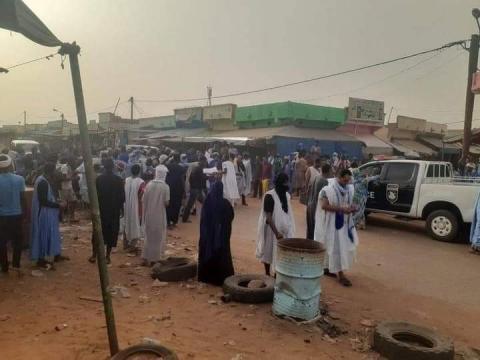 احتجاجات بمدينة الطينطان ـ (المصدر: الإنترنت)