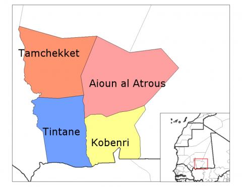 خريطة تظهر مقاطعات ولاية الحوض الغربي (ارشيف - انترنت)