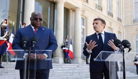الرئيسان الفرنسي والكونغولي خلال لقاء سابق- المصدر (انترنت)