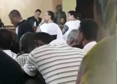 لقطة صورها مركز الصحراء من الجلسة الأولى لمحاكمة ولد غده