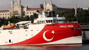 """سفينة الأبحاث الزلزالية التركية """"عروج ريس"""" في إسطنبول. تركيا في 22 أغسطس/آب 2019. © رويترز"""