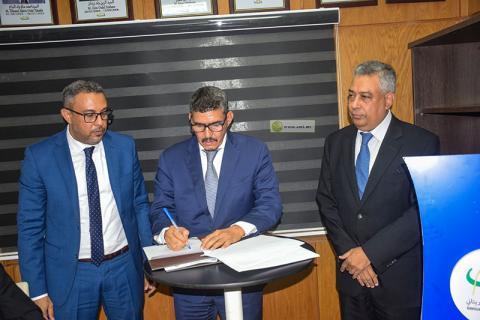 جانب من توقيع الاتفاقية- المصدر (وما)