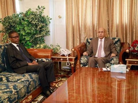 الرئيس غزواني مع الوزير الأول الجديد (و.م.ا)