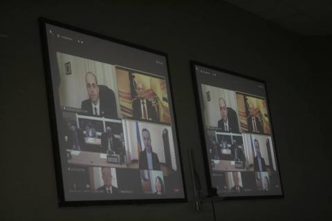 الاتفاق بين الغرفتين جرى عبر تقنية الفيديو- المصدر(فيسبوك)