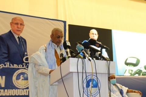 رئيس الحزب الحاكم سيدي محمد ولد الطالب أعمر (أرشيف)
