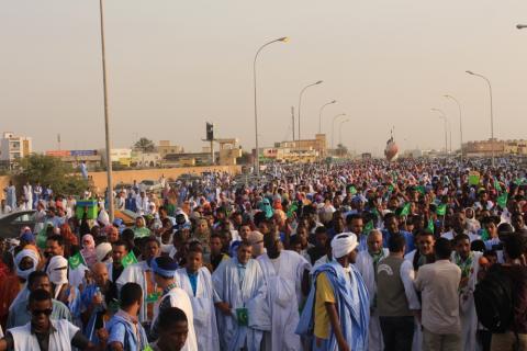 مظاهرة لأحزاب معارضة- المصدر (أرشيف الصحراء)