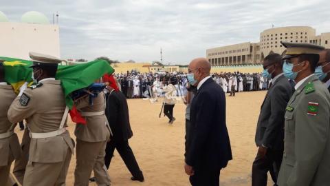 الصلاة على جنازة الرئيس الأسبق ولد الشيخ عبد الله ـ (المصدر: الصحراء)
