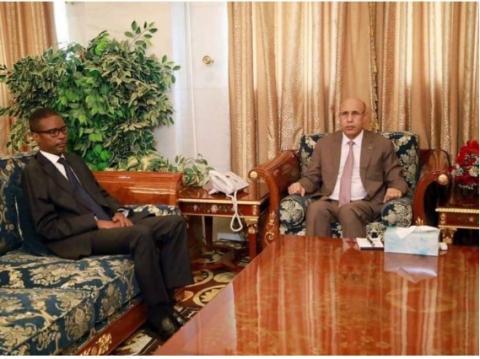الرئيس غزواني والوزير الأول محمد ولد بلال ـ(المصدر: وما)