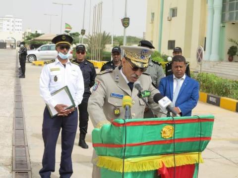 المدير العام للأمن الفريق مسقارو ولد سيدي ـ (المصدر: صفحة الشرطة)