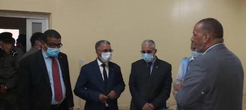 الوزير المختار ولد داهي خلال زيارته الحالية لمدينة نواذيبو (المصدر: وزارة الثقافة)
