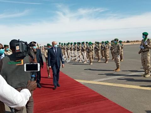 الرئيس محمد ولد الشيخ الغزواني  في ازويرات ـ (أرشيف الصحراء)