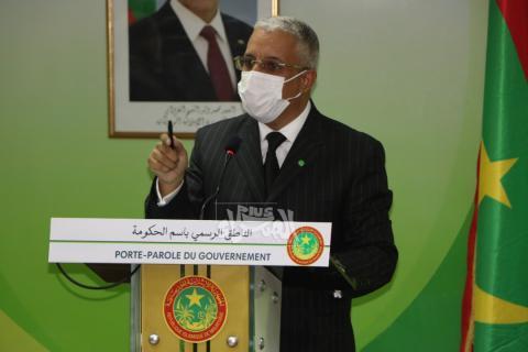 الناطق باسم الحكومة المختار ولد الداهي-(المصدر: الصحراء)