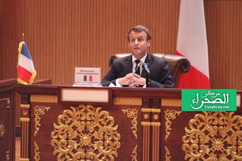 الرئيس الفرنسي إيمانويل مكرون ـ (المصدر: الصحراء)