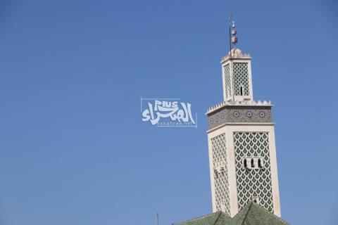 مئذنة مسجد المغرب الذي عرف به السوق
