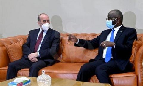 وزيرا داخلية موريتانيا والجزائر ـ (المصدر: الإنترنت)