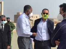 وزير الرياضة في الحكومة المستقيلة الطالب سيد أحمد ورئيس اتحادية كرة القدم أحمد ولد يحي - (أرشيف)