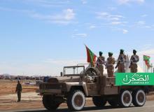 الصورة من العرض العسكري المخلد للذكرى 59 للاستقلال الوطني - (المصدر:ارشيف الصحراء)
