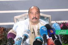 الرئيس السابق محمد ولد عبد العزيز (المصدر: الصحراء-إرشيف)
