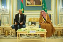 الرئيس غزواني في ضيافة العاهل السعودي (26 فبرااير 2020) -االمصدر: (الانترنت)