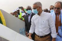 وزير المياه لدى إشرافه على إطلاق المشروع- المصدر (وزارة المياه)