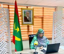 وزيرة التجارة خلال مشاركتها في الاجتماع- المصدر (وزارة التجارة)