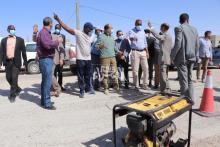 وزير المياه يتفقد بعض الأشغال التابعة لقطاعه بنواكشوط ـ (المصدر: الصحراء)