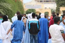 اعتصام مقدمي خدمات التعليم أمام وزارة التهذيب ـ (المصدر: الصحراء)