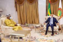 الرئيس غزواني يستقبل مبعوث الأمم المتحدة إلى الساحل ـ (المصدر: وما)