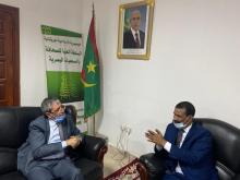 رئيس الهابا يستقبل السفير الجزائري ـ (المصدر: موقع الهابا)