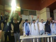 تبادل المهام بين مكتبي الرابطة - (المصدر: طلاب موريتانيا في الإسكندرية)