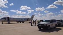 طائرة بعثة الأمم المتحدة التي تتوسط في محادثات غدامس