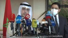 مؤتمر صحفي لوزيري خارجية المغرب والكويت