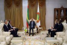 الرئيس غزواني يستقبل المبعوث الفرنسي الخاص للساحل (المصدر: وما)