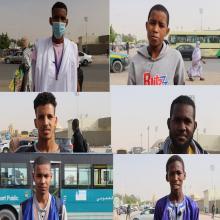 مواطنون في حديث إلى ميكرو الصحراء - (المصدر: الصحراء)