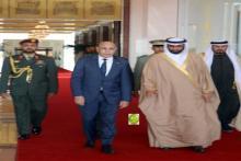 الرئيس محمد ولد الشيخ الغزواني خلال زيارته للإمارات العربية المتحدة-(المصدر: وما)
