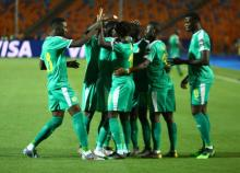 لاعبو المنتخب السنغالي في مباراة سابقة - (المصدر: الإنترنت)