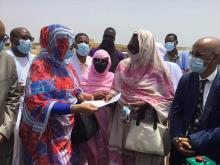 مفوضة الأمن الغذائي خلال زيارتها لولاية الترارزة