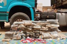 المخدرات والخمور المصادرة خلال العملية- المصدر (الدرك الوطني)
