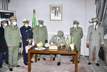 رئيس أركان الجيش الجزائري يستقبل قائد الأركان المويتاني ـ (المصدر: الإنترنت)