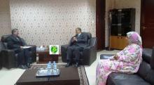 جانب من لقاء السفير الإيراني مع الوزير