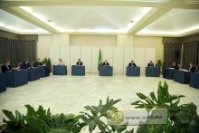 جانب من اجتماع المجلس صباح اليوم (و م أ)
