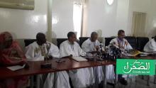 لجنة التحقيق البرلمانية خلال المؤتمر الصحفي-( المصدر: الصحراء)