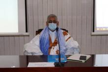 سيدي محمد ولد الطالب أعمر رئيس حزب UPR خلال ترؤسه الاجتماع