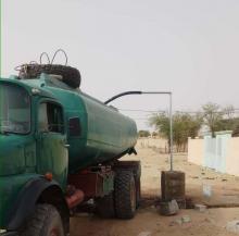 الصهريج الذي زودت به الحكومة قرية النباغيه (وزارة المياه)