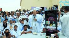 الأمين التنفيذي للحزب الحاكم أحمد سالم محمد فاضل خلال مهرجان أمرج