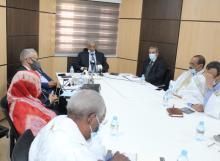 جانب من اجتماع ممثلي الحكومة ورؤساء الأحزاب الممثلة في البرلمان (المصدر: الحزب الحاكم)