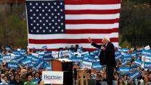 لفوز الذي حققه ساندرز في ولاية نيفادا دفع بحظوظه لتصدر قوائم المرشحين الديمقراطيين (الفرنسية)