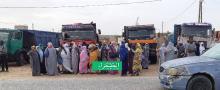 وقفة عمال النظافة أمام حاكم الرياض ـ (الصحراء)