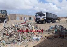 جانب من عمليات التنظيف صباح اليوم الجمعة بمقاطعة الرياض